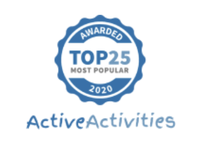 Award fro Active Activities. Top 25 Kids entertainment 2020
